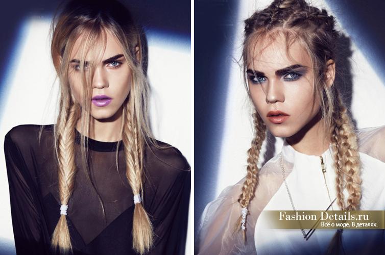 beauty look, стильная прическа, как сделать косы модными