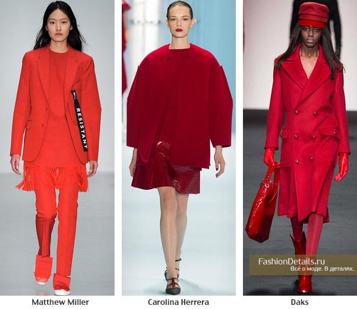 модный красный, зима 2016