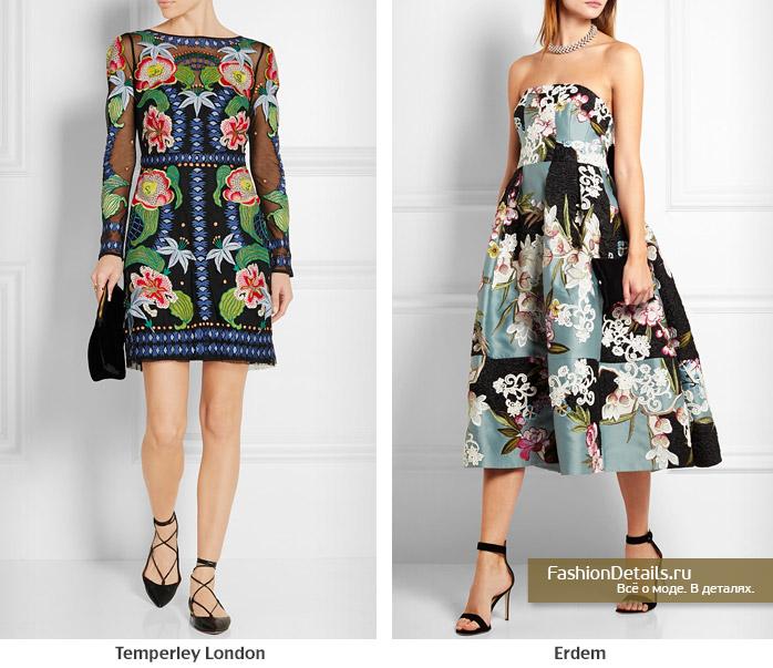 принт цветы, цветочное платье, платье с цветами
