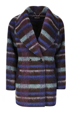 выбрать пальто, модное пальто, пальто в полоску, LA REINE BLANCHE