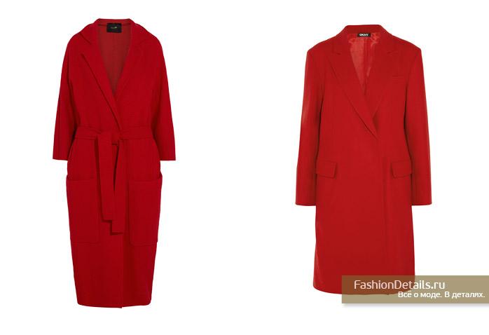 красное пальто, зима 2016