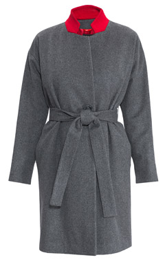 пальто, модное пальто, серое пальто