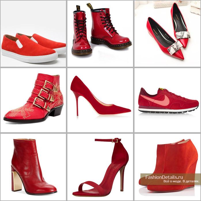 красный цвет, обувь