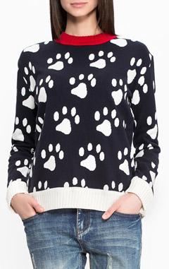 свитер PAUL & JOE SISTER, какой выбрать трикотаж на зиму, модные свитеры, свитер с рисунком