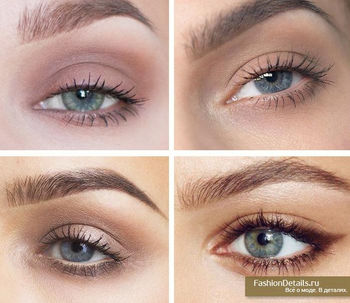 макияж глаза, макияж голубые глаза, урок макияжа