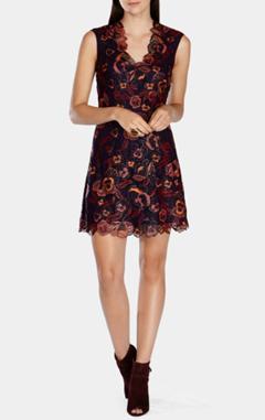 karen millen платье с вышивкой