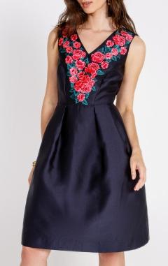 вечернее платье, платье с цветами, какое платье