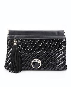 Cavalli Class, черный клатч, мателькая черная сумка, какая сумка, пайетки, к платью из пайеток