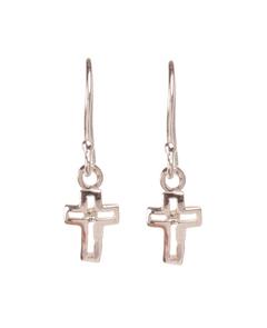 серьги кресты, маленькие крестики, модные серьги, украшения в уши