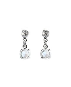 серьги-гвоздики купить, серьги с кристаллами, чешские кристаллы