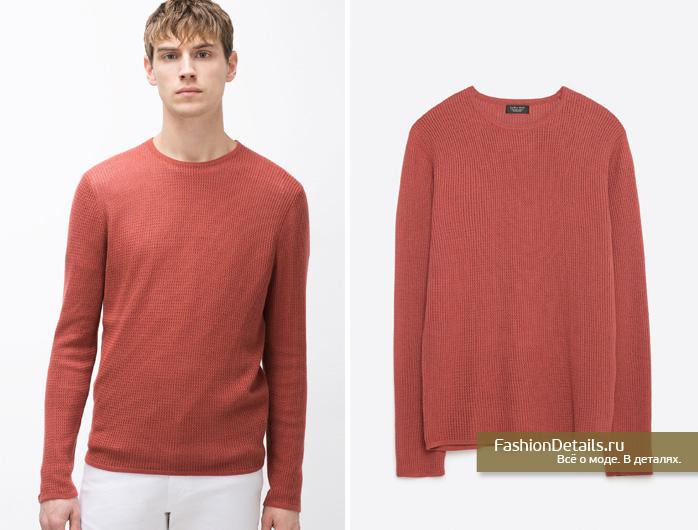 Zara 016, весенняя коллекция, мужской стиль, шопинг, зара, мужская одежда, яркий пуловер, модные цвета мужских пуловеров