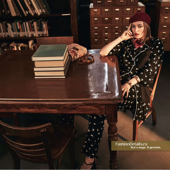 дакота джонсон, дочь мелани гриффит, гуччи, EDIT, образ гуччи, look gucci, модные тенденции, весна 2016, тренды ы одежде