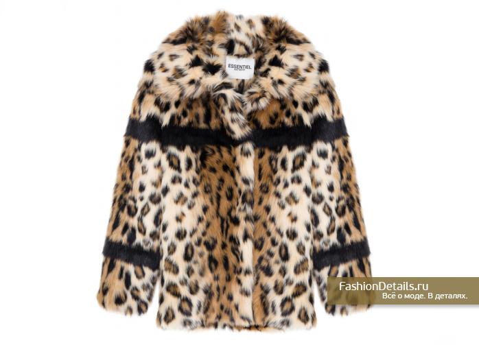 купить леопардовую шубу ESSENTIEL, зима 2016