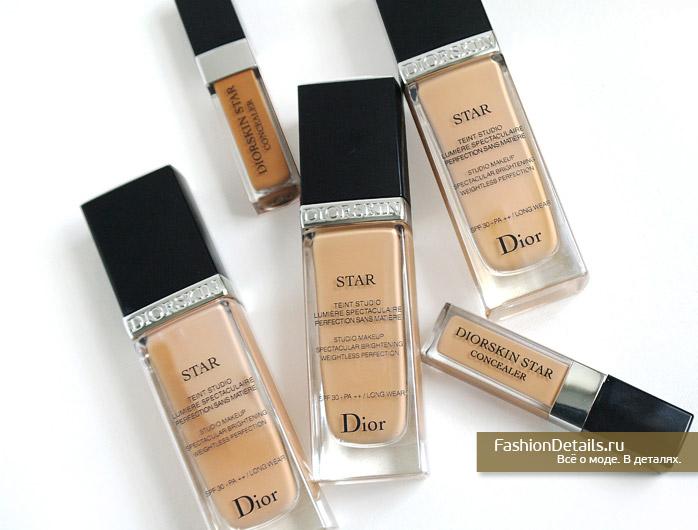 тональный крем диор, макияж, косметика, Dior star, Diorskin