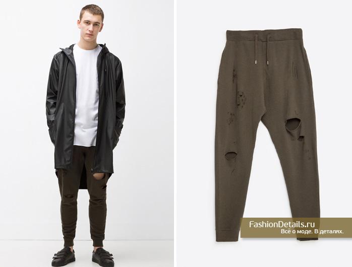 Zara 016, весенняя коллекция, мужской стиль, шопинг, зара, мужская одежда, брюки, рваные брюки купить