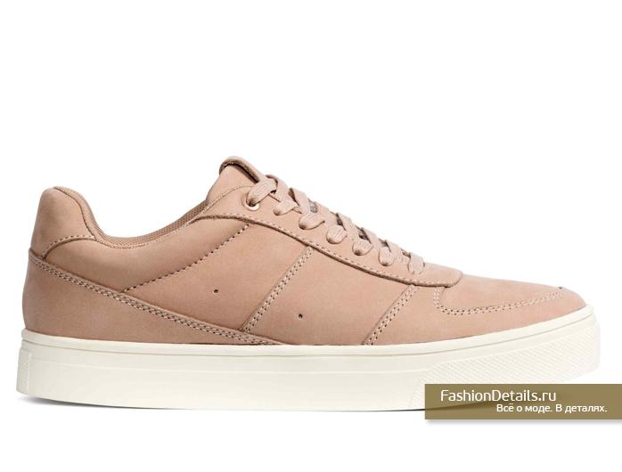 h&m, весна 2016, купить розовые кеды, модная обувь