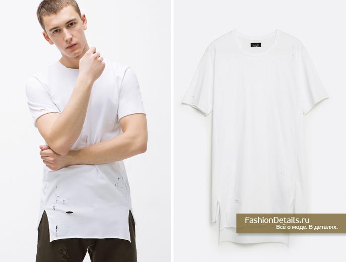 Zara 016, весенняя коллекция, мужской стиль, шопинг, зара, мужская одежда, купить мужскую футболку, модные футболки, драные футболки