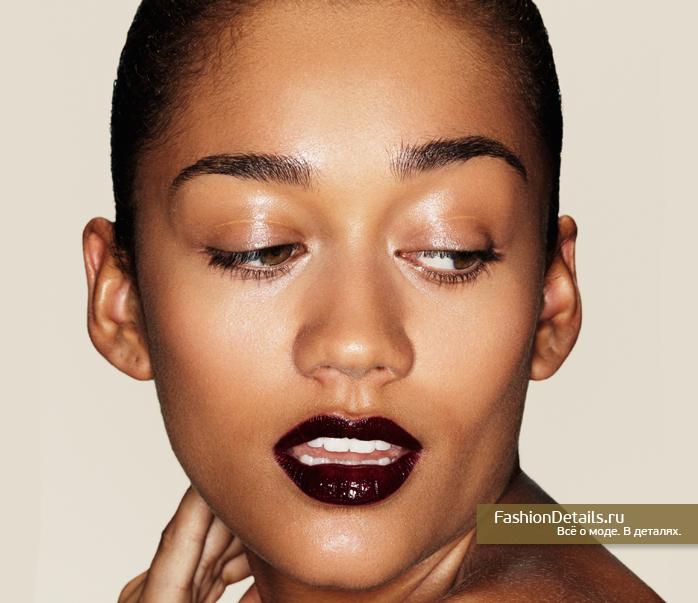 макияж, темная помада, модная помада, какая помада
