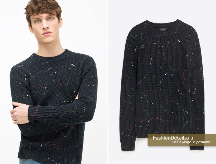 Zara 016, весенняя коллекция, мужской стиль, шопинг, зара, мужская одежда, модный свитер, джемпер с принтом