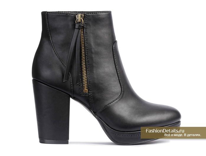 h&m, весна 2016, купить ботинки на каблуке, модная обувь