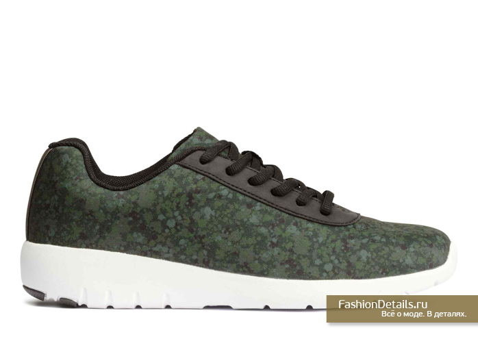 h&m, весна 2016, купить зеленые кроссовки, модная обувь