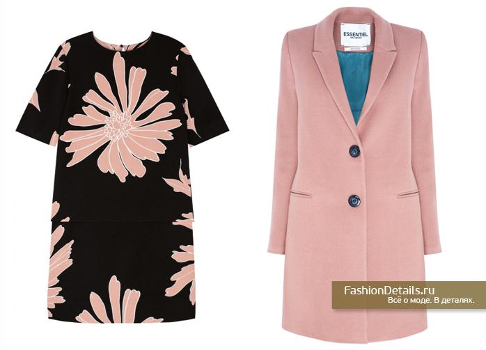 купить розовое пальто, одежда ESSENTIEL