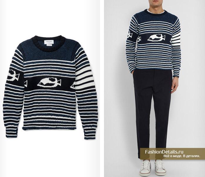 мужской пуловер с графическим узором must have 2016