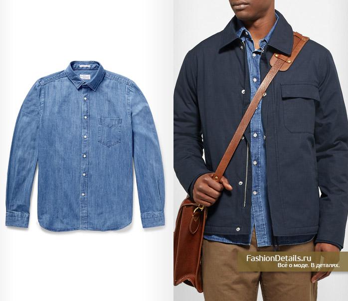модная джинсовая рубашка в мужском гардеробе на весну 2016