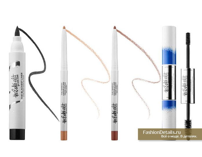 The Barest Contour Lip Liner,  The Blackest Liner, The Edgiest Up & Out Double Mascara