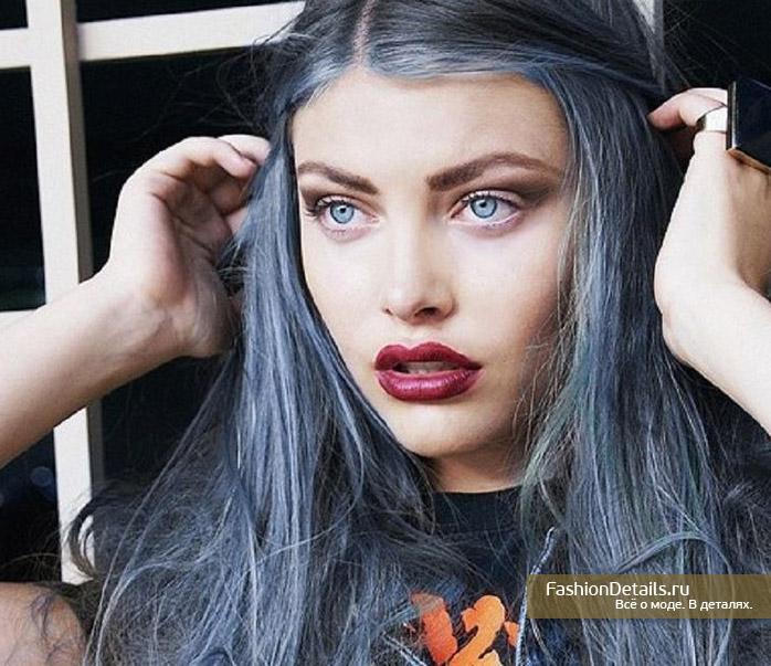 Цвет волос пепельно голубой