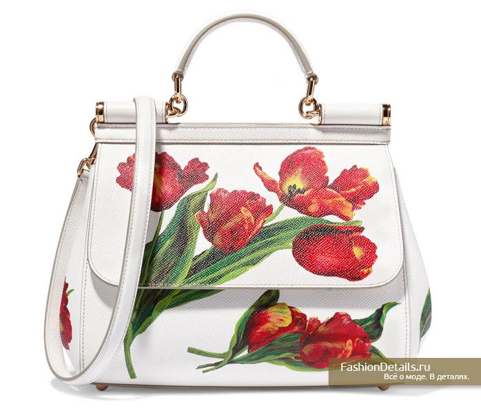 DOLCE&GABBANA сумка с цветами лето 2016