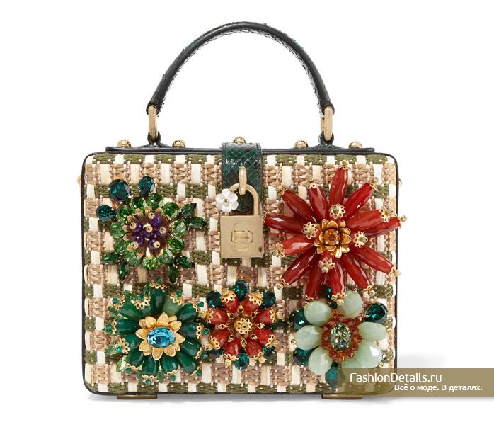 DOLCE&GABBANA маленькая сумочка с кристаллами 2016