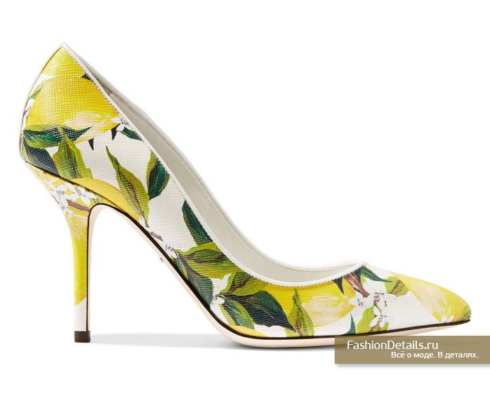DOLCE&GABBANA туфли с лимонами