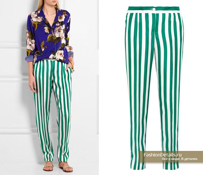 DOLCE&GABBANA полосатые брюки 2016