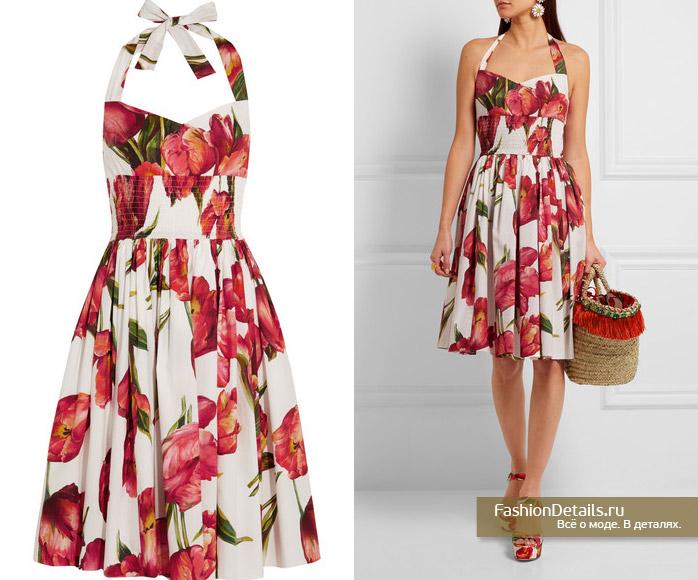 платье с цветами от DOLCE&GABBANA