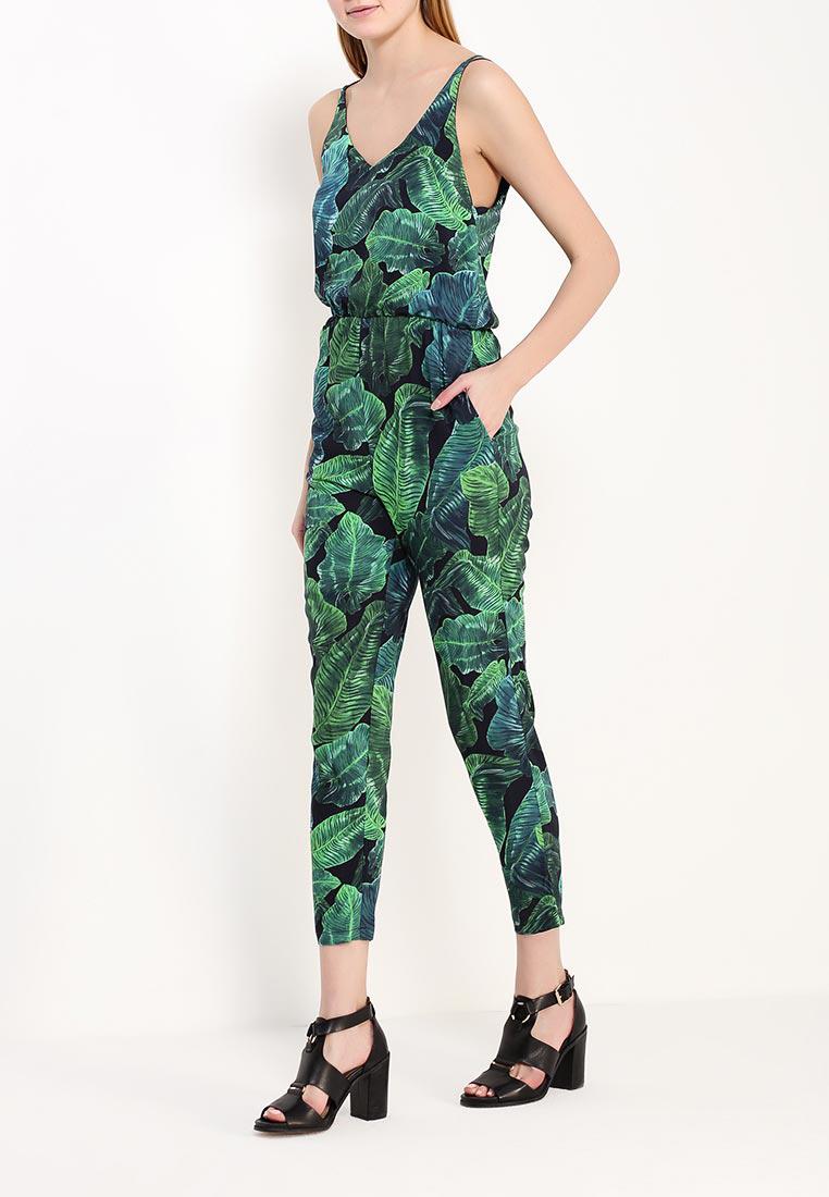 Модный комбинезон тропический принт