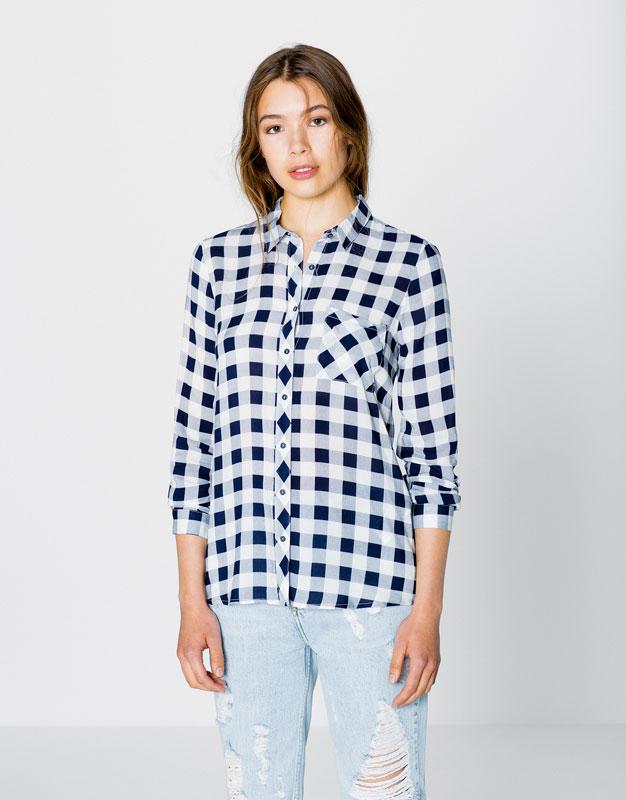 Рубашка в клетку Pull&Bear, 1 599р.