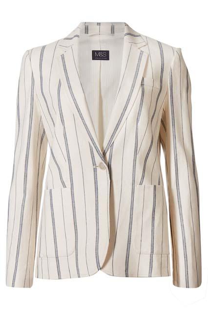 Пиджак в полоску Marks & Spencer