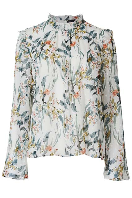 блузка с цветочным принтом Marks & Spencer