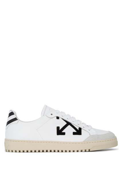 OFF-WHITE кроссовки на шнуровке с контрастным логотипом