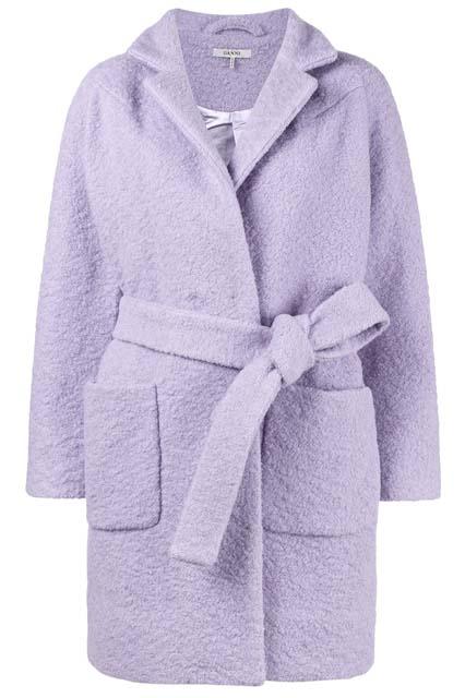GANNI короткое фактурное пальто Fenn