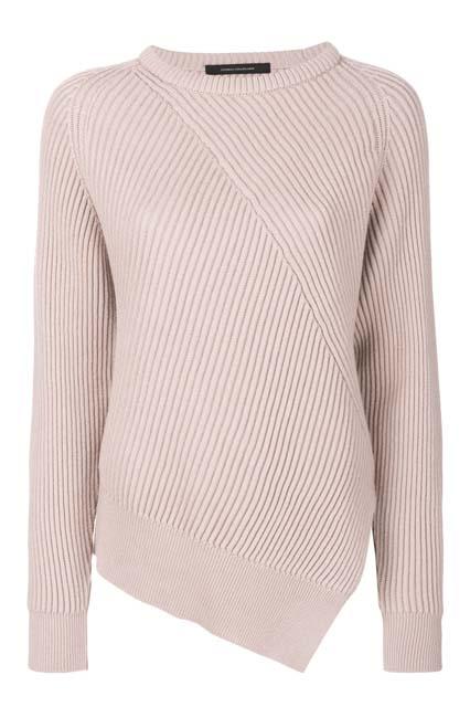 CÉDRIC CHARLIER асимметричный пуловер
