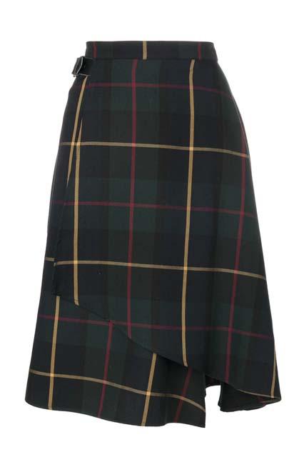 MANOUSH расклешенная юбка с принтом тартан