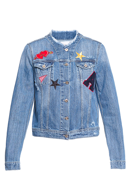 Джинсовая куртка с нашивками ANNA RITA N