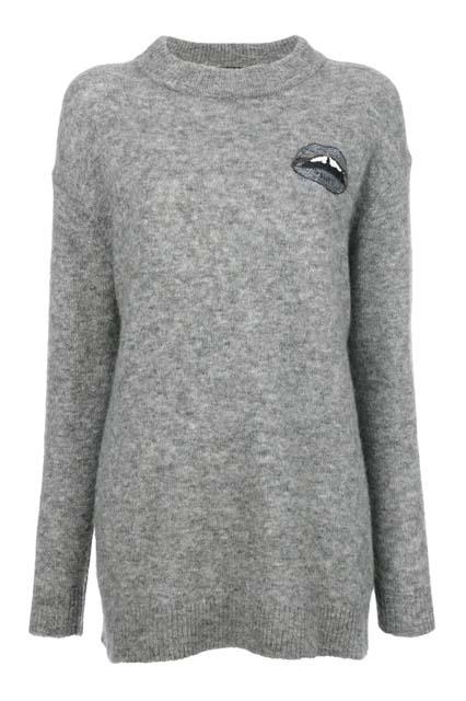 MARKUS LUPFER свитер с вышивкой Lara Lip Daisy