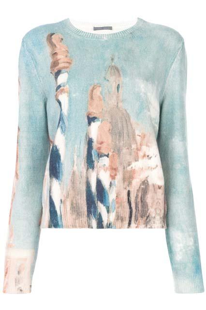 ALBERTA FERRETTI пуловер с рисунком