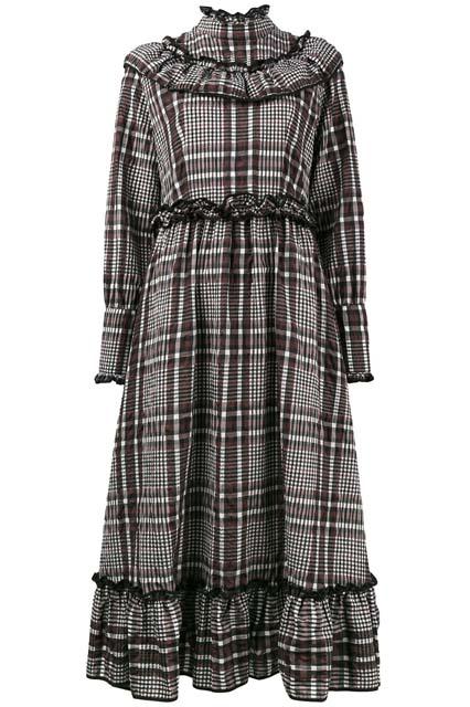 GANNI платье с оборкой Charron
