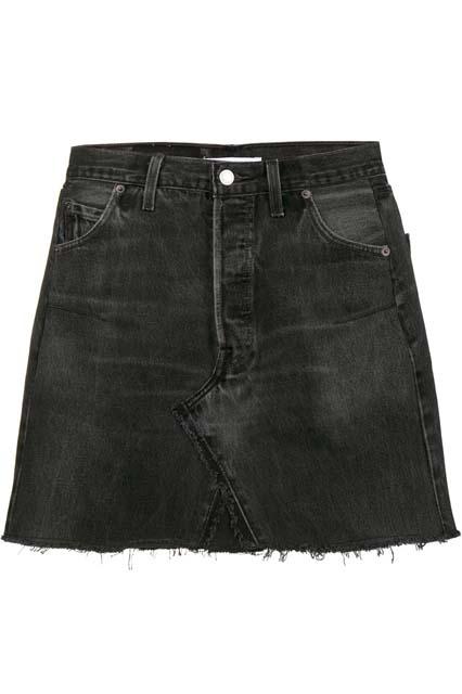 RE/DONE выбеленная джинсовая юбка мини