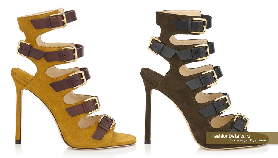 Jimmy Choo Замшевые открытые туфли в стиле милитари - TRICK 110