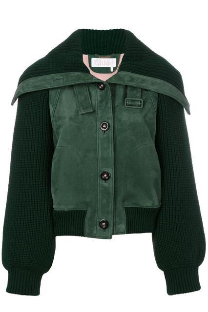 CHLOÉ куртка с вязанными рукавами